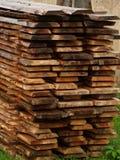 les panneaux ont mouillé le bois Photographie stock libre de droits