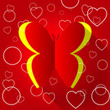 Les papillons de nature indique Valentine Day And Animals Illustration de Vecteur