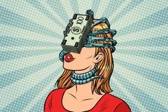Les parasites d'argent, les femmes et la dépendance financière illustration de vecteur
