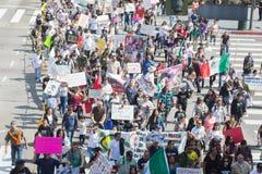 Les parents des étudiants qui ont disparu au Mexique ont emballé le s Image stock