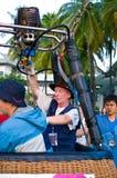Les participants font sauter leurs ballons Photo stock