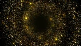 Les particules abstraites se développent en spirales fond de tunnel banque de vidéos