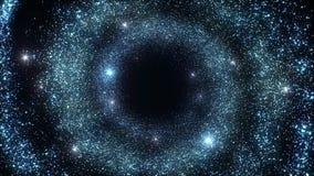 Les particules abstraites se développent en spirales fond de tunnel clips vidéos