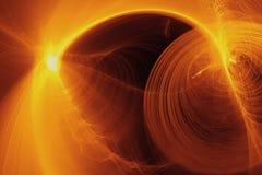Les particules coulent ou courant de lumière, fond abstrait Photographie stock libre de droits