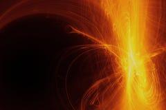 Les particules coulent ou courant de lumière, fond abstrait Image stock
