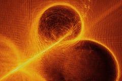 Les particules coulent ou courant de lumière, fond abstrait Photo stock