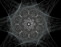 les particules de l'illustration 3D de la fractale abstraite forme au sujet de la physique nucléaire illustration libre de droits