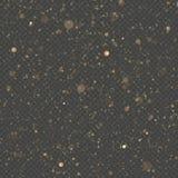Les particules de scintillement ont recouvert l'effet Particules de scintillement éclatantes de la poussière d'étoile d'or sur le illustration stock