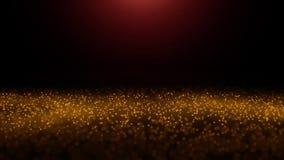 Les particules jaunes scintillent dans le mouvement lent sur un fond brouillé Colline 1 Zf2Y d'illuminations illustration libre de droits