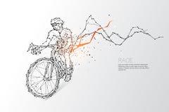 Les particules, l'art géométrique, la ligne et le point de la course de bicyclette Photos stock