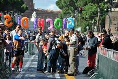 Les parties à l'extérieur - trous impériaux Rome photo libre de droits