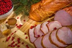 Les parts de la viande photographie stock libre de droits