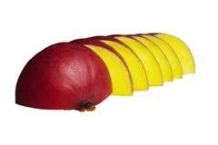 Les parts de mangue se ferment vers le haut Images libres de droits