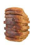 Les parts du pain combinées avec le raisin sec Photographie stock