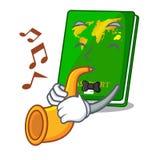 Les passeports de vert de trompette étant isolé dans les bandes dessinées illustration de vecteur