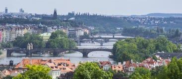 Les passerelles de Prague Photographie stock