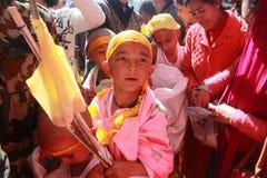 Les passionnés prennent le défilé ritualiste Images libres de droits