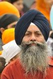 Les passionnés sikhs participent au cortège de Baisakhi Photos libres de droits