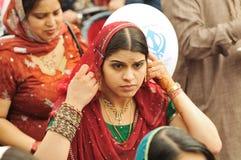 Les passionnés sikhs participent au cortège de Baisakhi Photos stock