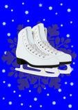 Les patins des femmes pour la figure patinage Photo libre de droits