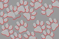 Les pattes de chat impriment sur un fond noir?tre ou un gradient illustration libre de droits