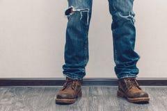 Les pattes de l'homme Image stock