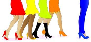 Les pattes des femmes illustration de vecteur