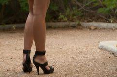 Les pattes du femme Photos libres de droits