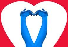 Les pattes du femme dans le bleu Images stock
