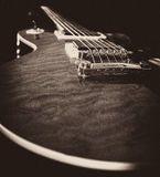 Les Paul. Guitar mono low angle Stock Images