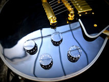 Les Paul Guitar close-up. Fashion Electric Les Paul Guitar on Genuine Leather close-up Stock Photography