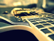 Les Paul Guitar close-up. Fashion Electric Les Paul Guitar on Genuine Leather close-up Stock Images