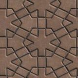 Les pavés de Brown ont construit des morceaux croisés a Photos stock