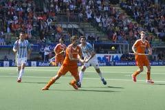 Les Pays-Bas battent Argentinia pendant la coupe du monde d'hockey 2014 Photo libre de droits