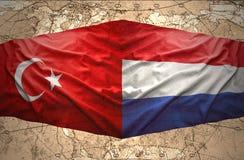 Les Pays-Bas et la Turquie Images libres de droits
