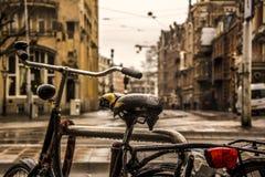 Les Pays-Bas la terre des vélos Images libres de droits