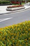 Les paysages conçoivent dedans le centre ville du ressort de Shenzhen de ville photos stock