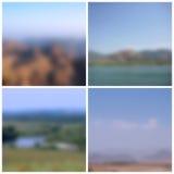 Les paysages de nature ont brouillé des milieux Photos stock