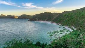 Les paysages et les plages cristallines de turquoise de Pontal font Atalai photo libre de droits