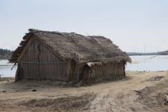 Les pêcheurs logent à la lagune de Kalpitiya, Sri Lanka Photo stock