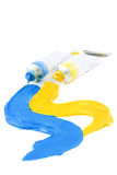 Les peintures colorées de l'artiste Photo libre de droits