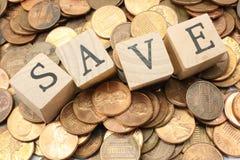 les penny sauvegardent Image libre de droits