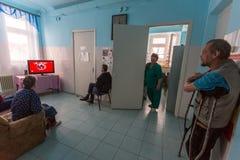 Les personnes âgées dans le département de réadaptation au centre des Services Sociaux pour des retraités et l'handicapé Photo libre de droits