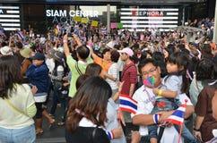 Les personnes thaïlandaises protestent contre la corruption du gouvernement de Thaksin la région centrale du Siam Photo libre de droits