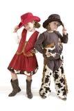 Les petites cow-girls les plus mignonnes Photos libres de droits