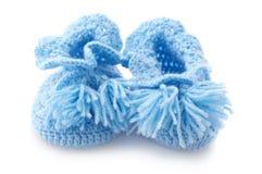 Les petits chaussons du bébé Photo libre de droits