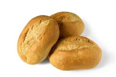 Les petits petits pains de pain, brötchen - des petits pains de petit déjeuner - d'isolement sur le fond blanc Images libres de droits