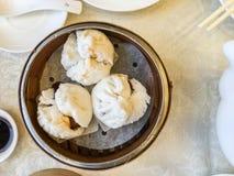Les petits pains de porc ont cuit la boulette à la vapeur Photos libres de droits