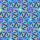 Les petits pixels ont coloré l'illustration sans couture de vecteur de modèle de fond géométrique Image libre de droits