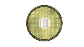 Les phares d'une voiture 3D rendent d'isolement Images stock